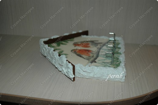 Деревянная заготовка, декупажная карта,структурная паста,яичная скорлупа,акриловые краски,лак. фото 7