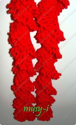 шарф спираль спицами.