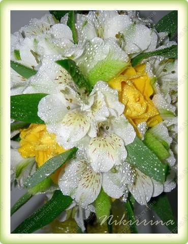 """""""Молоко и мёд"""" (дерево из живых цветов) фото 3"""