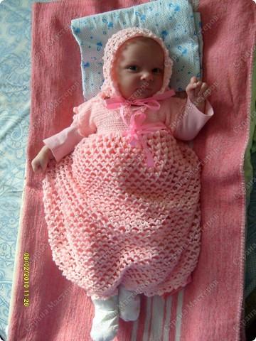 Первая работа вязанная крючком. Платье на крещение для дочки. фото 1