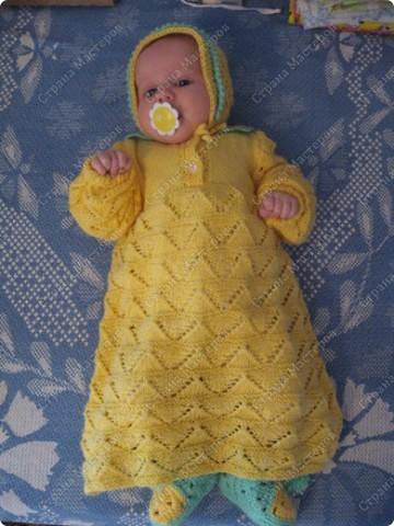 Это первое платье для моей крошки, сейчас ей уже 7 месяцев. на фото1 м фото 1