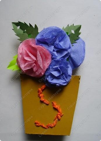 Яркие получились и горшочки, и цветочки. Пусть порадуют многоцветьем наших мам ! фото 4