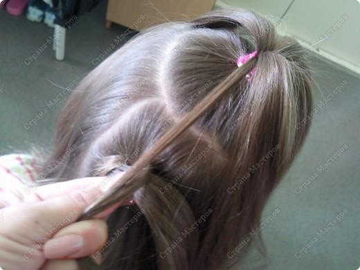 Плетение на голове с ниточек касички - Модные косички