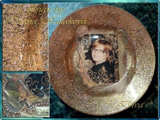 Делала тарелку на заказ, заодно решила все зафиксировать и поделиться с вами ))) фото 1