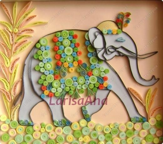 После путешествия в Египет - теперь путешествую в Индию! Очень нравятся слоны у наших мастериц, вот и мне захотелось продолжить мою начатую восточную тему с египетским орнаментом - индийским слоном..... фото 1