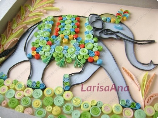 После путешествия в Египет - теперь путешествую в Индию! Очень нравятся слоны у наших мастериц, вот и мне захотелось продолжить мою начатую восточную тему с египетским орнаментом - индийским слоном..... фото 2