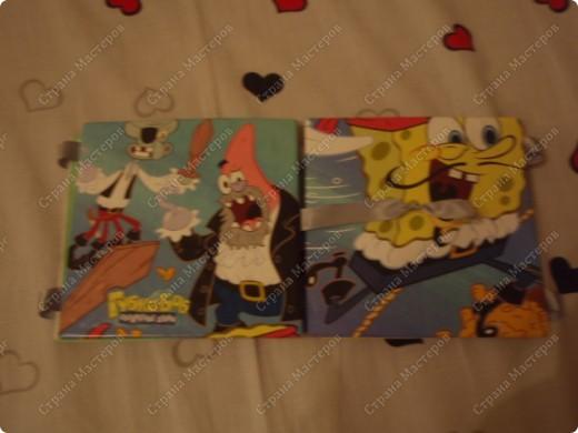 Сделал эту открытку брату на Новый год(он обожает Губку Боба). Надеюсь победить в конкурсе http://stranamasterov.ru/node/118663#comment-887708. фото 3