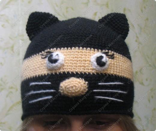Попрасила меня сестренка мужа связать шапочку Вот такая шапочка у меня получилась, осталась довольна. фото 1