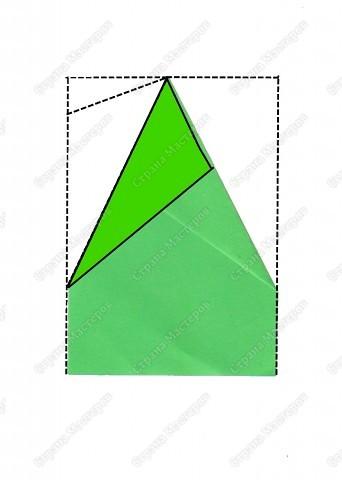 Скоро праздник. Дел у нас очень много, но занятия продолжаются. Сегодня будем решать несколько задач. Первая: вспомним приемы оригами и сложим елочку, которая украсит наш новогодний стол.  фото 5