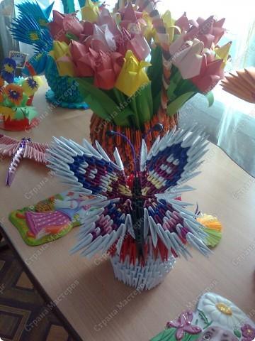 очень интересная бабочка, советую сделать!!!