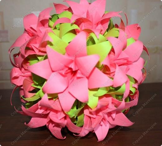 Цветочная кусудама. фото 5