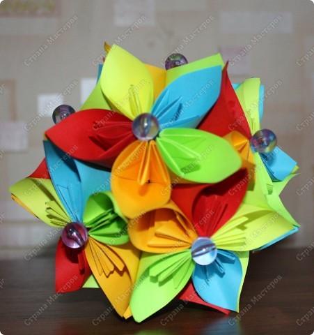 Цветочная кусудама. фото 4