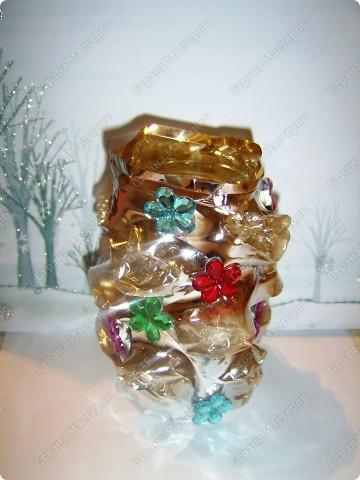 Ваза или подсвечник из под конфетной формы фото 12