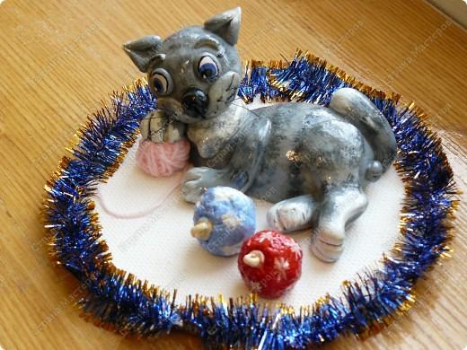 А это мой кот в подарок на Новый год