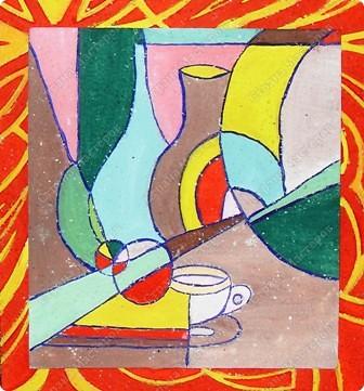 """Работы учащихся объединения """"Юный художник"""", выполненные на выставку к дню матери. Хилтухинова Алтана, 13 лет """"Букет для мамы"""" фото 7"""