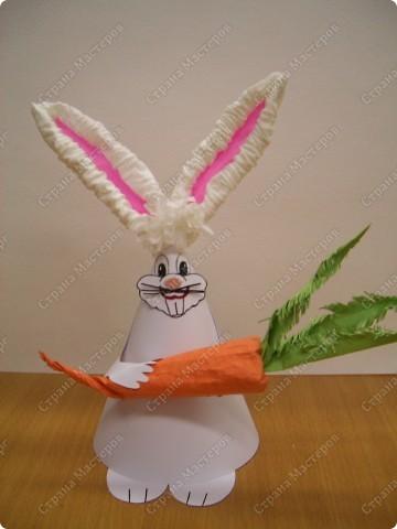 Заяц из конуса фото 1