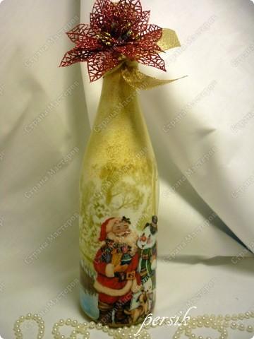 Всем доброго времени суток. Это первая партия новогодних бутылок уже нашла своих хозяев. фото 5