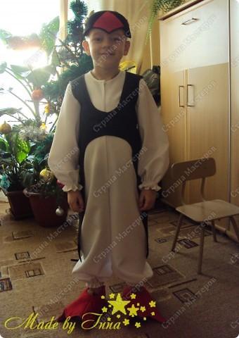 Вот такой костюм пингвина я изобразила для младшего. Хотела выставить раньше, да не было времени. фото 9