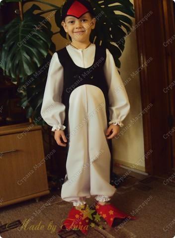 Вот такой костюм пингвина я изобразила для младшего. Хотела выставить раньше, да не было времени. фото 1