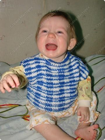 Вот связала племяннику жилеточку (по просьбе сестренки) фото 2