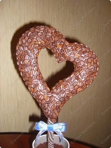Вот такое кофейное сердечко получилось у меня! Спасибо за МК koketka (http://stranamasterov.ru/node/124256) фото 2