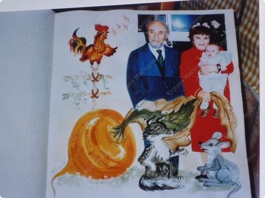 моя племяница придумала  как то оформить свадебный альбом.а я попробовала детский  и вот  ............... думаю что уже догадались  что и как.только нужно приобрести альбом с плотными  листами. фото 6