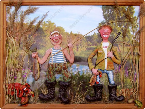 Рыбаки с уловом.  фото 1