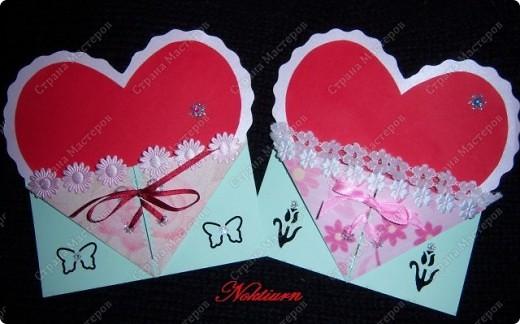 Вот такие открытки близняшки у меня получились.Спасибо Оле http://stranamasterov.ru/node/134949 за вдохновение. фото 1
