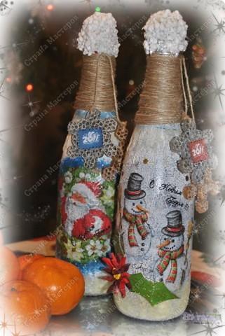 """Ох, насмотрелась я на декорированные бутылочки - очень нравится! И решилась сама на этот """"подвиг"""" :-))) Вот что у меня получилось - смотрите, пожалуйста! фото 1"""