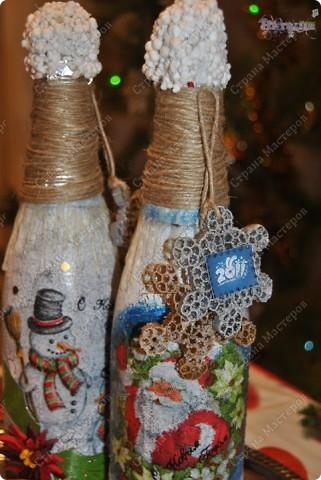 """Ох, насмотрелась я на декорированные бутылочки - очень нравится! И решилась сама на этот """"подвиг"""" :-))) Вот что у меня получилось - смотрите, пожалуйста! фото 5"""