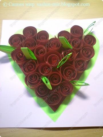 Хочу поделиться идеей оформления открытки. Думаю, такие розы смогут сделать ученики начальных классов. И порадовать своих мам, бабушек и учителей на 8 марта.  фото 6