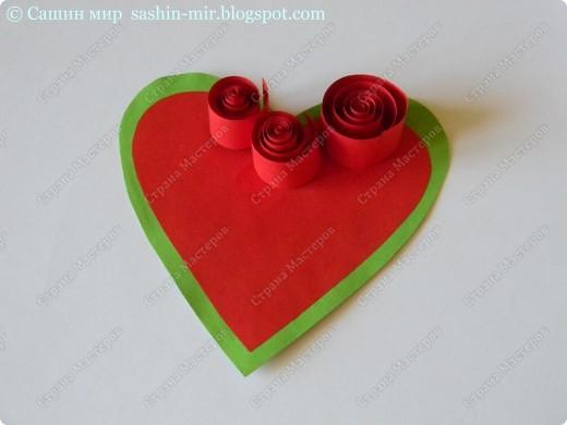 Хочу поделиться идеей оформления открытки. Думаю, такие розы смогут сделать ученики начальных классов. И порадовать своих мам, бабушек и учителей на 8 марта.  фото 3
