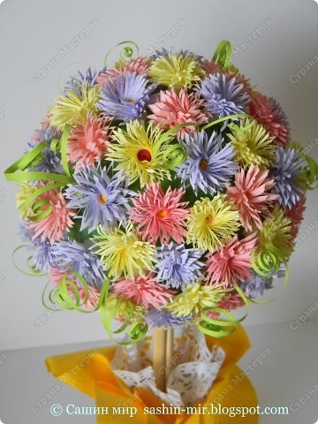 """Все помыслы только о весенних праздниках. Вчера """"вырастила"""" цветочное деревце. фото 6"""