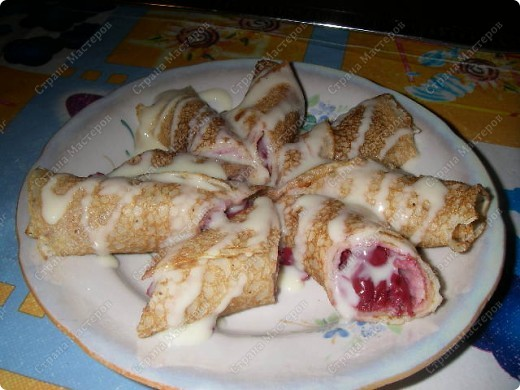 Вот такие очень простые и очень вкусные блины научила меня готовить моя двоюродная сестра. фото 1