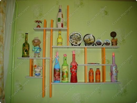 Вот такую полочку мы заказали, что бы на неё можно было ставить приятную мелочь!!! Висит на кухне, сделана под цвет гарнитура. фото 1