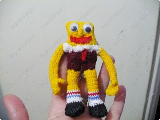 Вязание крючком - Губка-Боб.