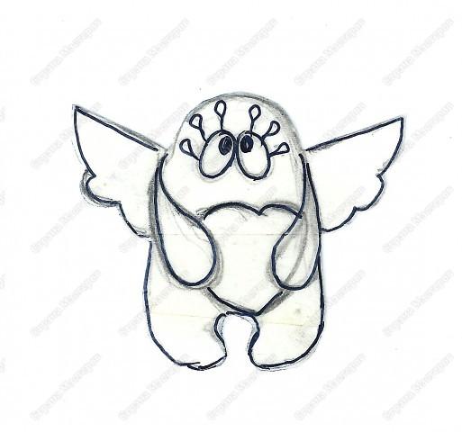 Хочу подарить жителям Страны мини МК  по созданию вот такого ангелочка фото 2