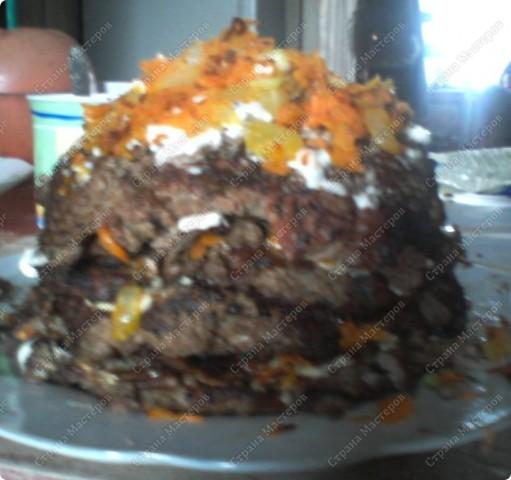 Печеночный торт я готовила впервые и сложностей не возникло.Попробуйте, домашние будут в воссторге! фото 1