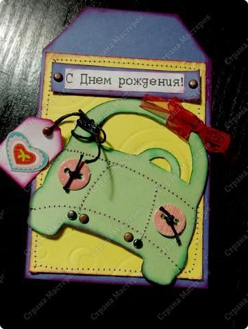 """Недавно увидела открытку с такой машинкой на """"Ярмарке мастеров"""".Да простит меня автор Евгения (фамилии не было), но я не удержалась и сделала себе такую.Она немного отличается цветовой гаммой и мелочами. фото 4"""