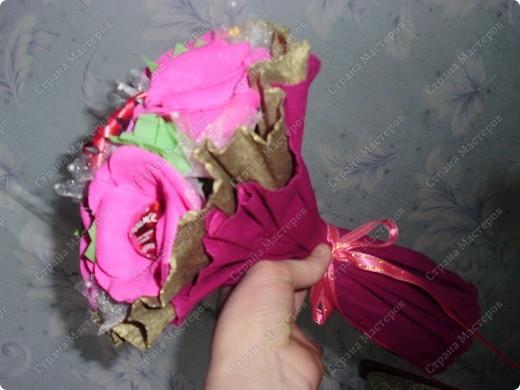 букет с конфетками фото 2