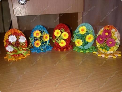 Квиллинг. Пасхальные яйца фото 1