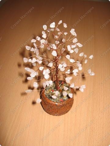 Самодельное деревце из розового кварца. фото 2