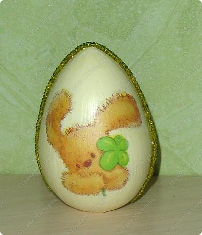 Пасхальное яйцо из бисера фото 1