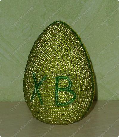 Пасхальное яйцо из бисера фото 2