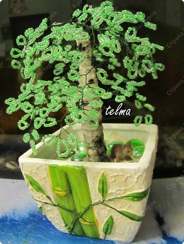 Поделка изделие Бисероплетение деревья из бисера и камней Бисер фото 1.