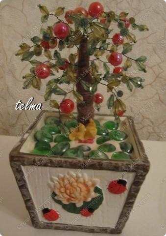 Деревья из бисера и камней бисер фото 2