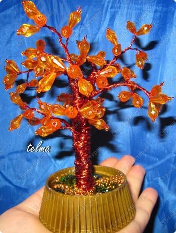 Деревья из бисера и камней бисер фото 3