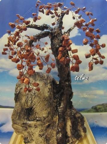 Деревья из бисера и камней бисер фото 6