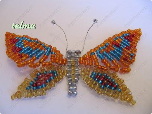 насекомые из бисера фото 2