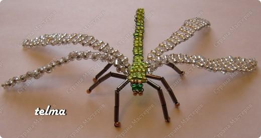 насекомые из бисера фото 3